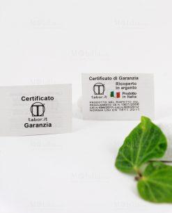 certificato garanzia prodotto in italia tabor