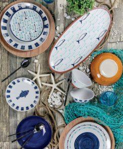 collezione el pescado con stampa pesci blu villa deste