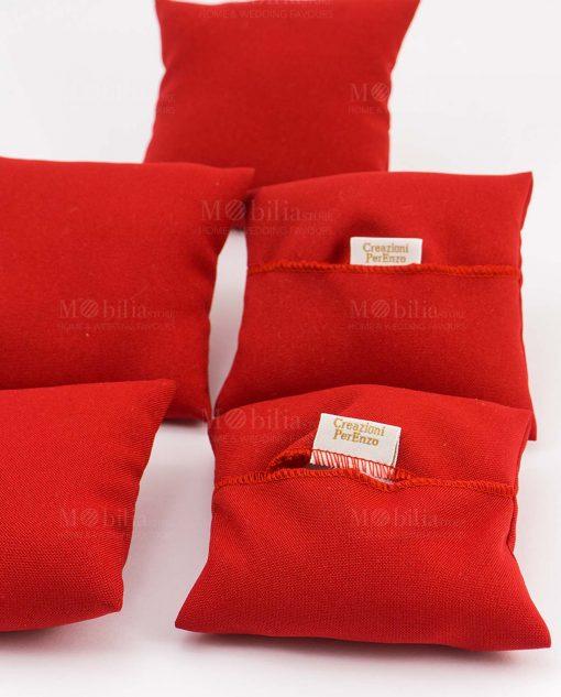 cuscino portaconfetti rosso
