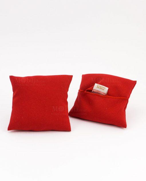 cuscino portaconfetti rosso quadrato