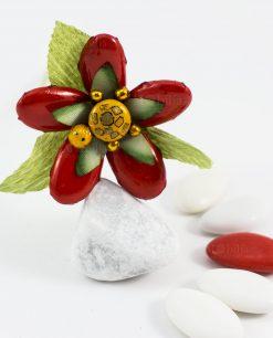 fiore di sulmona con petali rossi