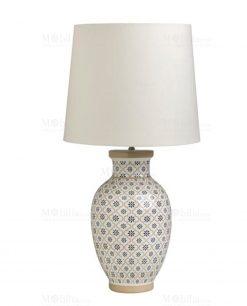 lampada da tavolo con paralume linea alhambra brandani