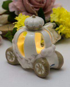 lampada led carrozza porcellana bianca