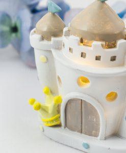 lampada led castello bimbo bianco con corona