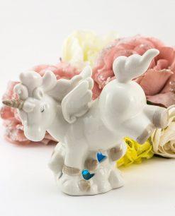 lampada led porcellana bianca unicorno grande