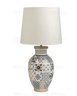 lampada linea alhambra con paralume brandani