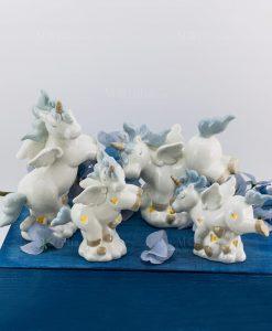 lampada unicorno piccola e grande porcellana forme assortite