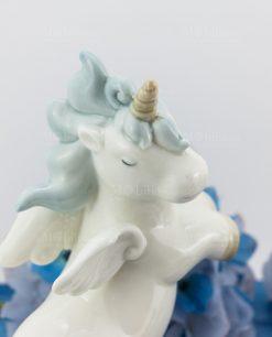 lampada unicorno rampante piccola porcellana
