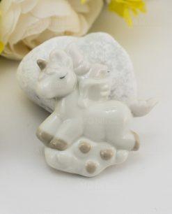 magnete porcellana unicorno rampante