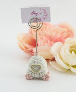 memoclip carrozza con fiori e cuore