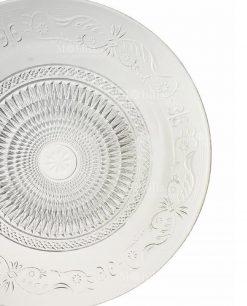 piattino dessert vetro decoro a rilievo collezione imperial villa deste