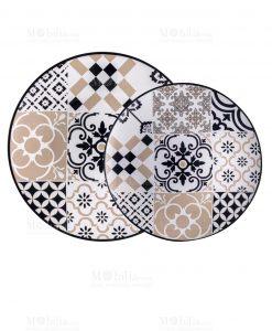 piatto da portata e cabaret grande e piccolo linea alhambra brandani