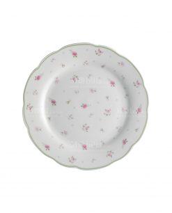 piatto dessert bianco porcellana linea nonna rosa brandani