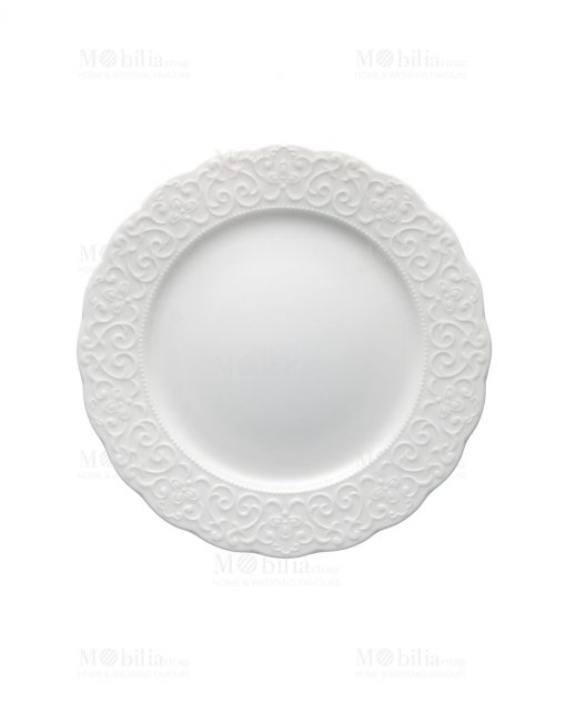 piatto dessert frutta bianco porcellana bone linea gran galà brandani