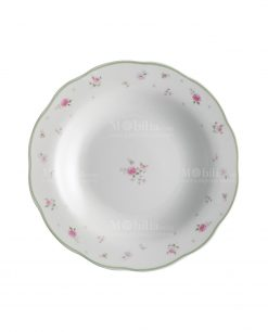 piatto fondo bianco porcellana linea nonna rosa brandani