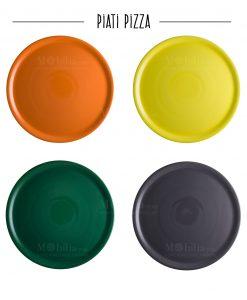 piatto per pizza porcellana vari colori brandani
