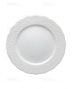piatto piano bianco porcellana bone linea gran galà brandani