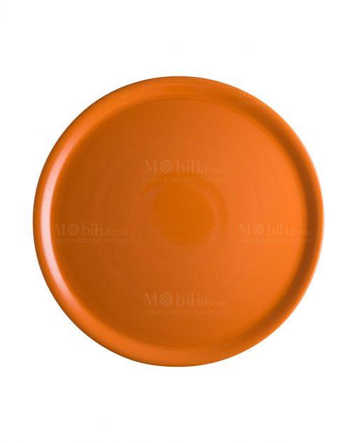 piatto porcellana arancio per pizza brandani