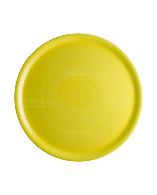 piatto porcellana giallo per pizza brandani