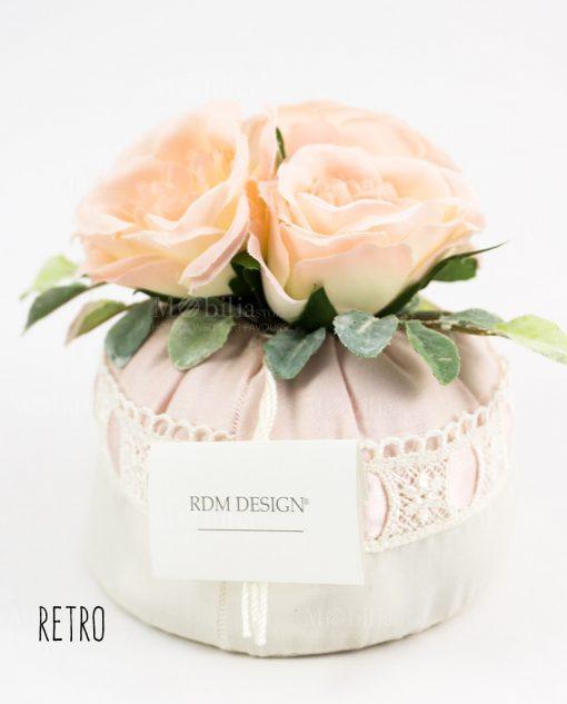 sacchetto borsetta portaconfetti con rose e merletto rdm design retro