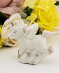 sculturina unicorno porcellana grande