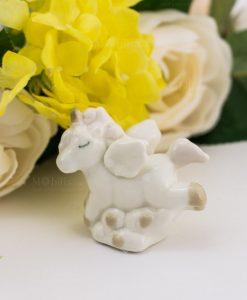 sculturina unicorno porcellana piccola 1