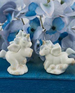 sculturina unicorno porcellana piccola