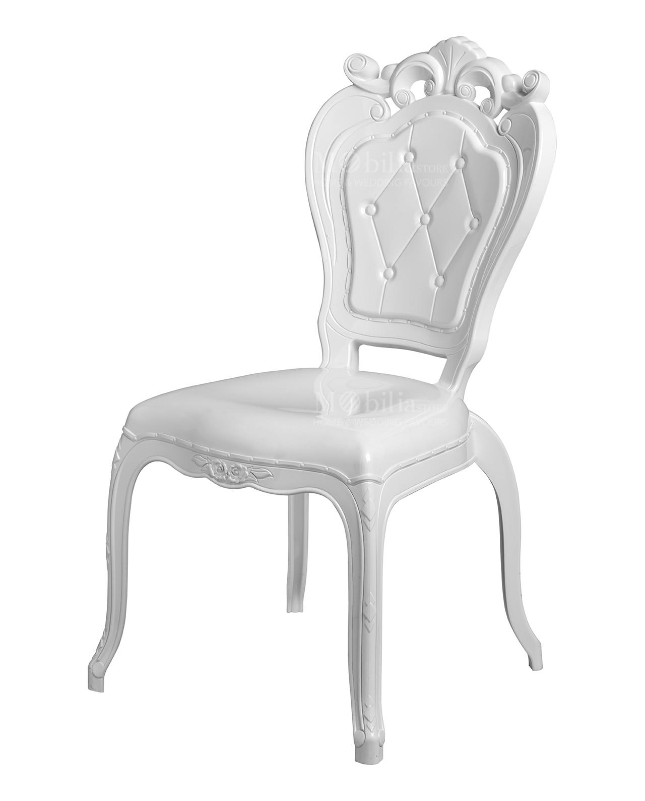 Sedia policarbonato trapuntina bianca brandani mobilia for Mobilia outlet