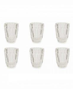 servizio bicchieri 6 pezzi trasparente vetro collezione deco villa deste
