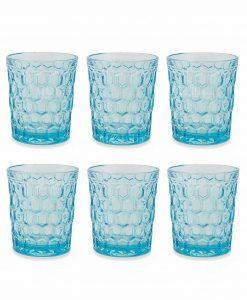 servizio bicchieri acqua azzurri collezione ottagono villa deste