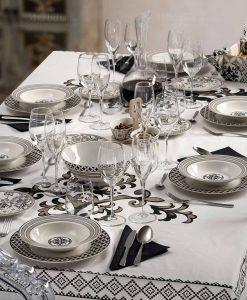 servizio piatti 18 pezzi porcellana linea alhambra brandani