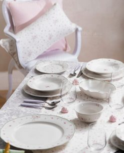 servizio piatti porcellana collezione nonna rosa brandani