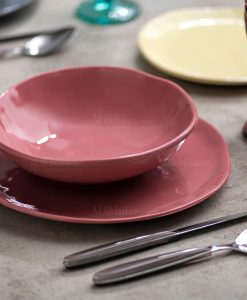 servizio piatti rosa antico linea sinfonia brandani