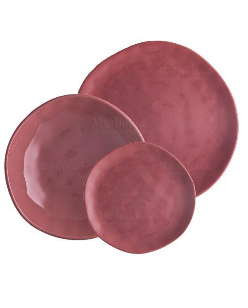 servizio piatti rosa antico piani fondi e frutta linea sinfonia brandani