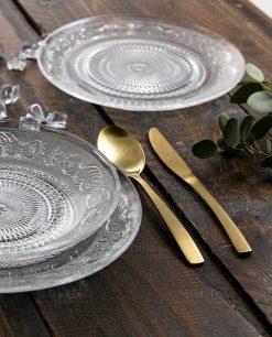 servizio piatti vetro collezione imperial villa deste