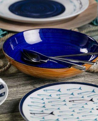 set piatti con pesci collezione el pescado villa deste