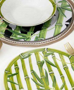 set piatti con stampe natura collezione bamboo city villa deste
