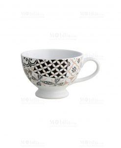 tazza da colazione con stampa geometrica linea alhambra brandani