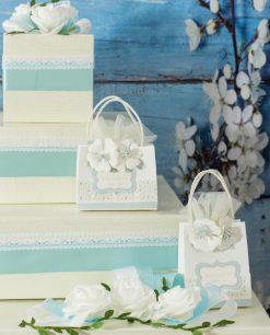 torta portabomboniere con sacchettini pochette portaconfetti rdm design forever