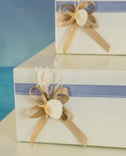 torta portabomboniere con stella marina e conchiglia