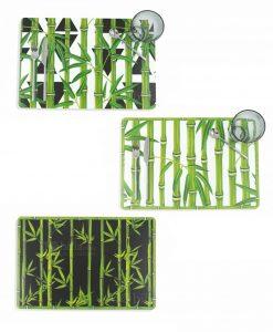 tovaglietta colazione 3 modelli assortiti con stampa foglie collezione urban bamboo villa deste