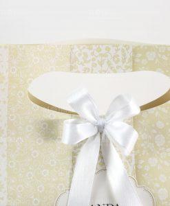 wedding ba brandani con fiocco raso bianco