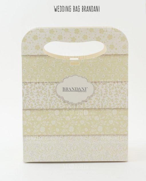 wedding bag cartoncino con decoro floreale brandani