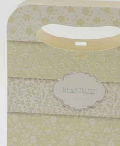 wedding bag con decoro floreale brandani