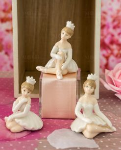 bambolina porcellana ballerina tre forme assortite