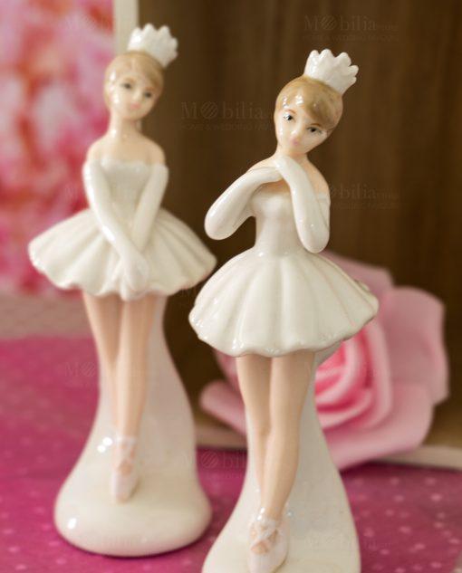 bambolina sculturina porcellana piccola ballerina in piedi