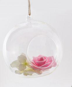 bolla vetro da appendere con apertura