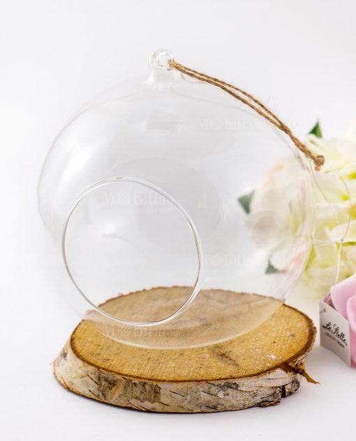 bolla vetro trasparente con apertura sul davanti media