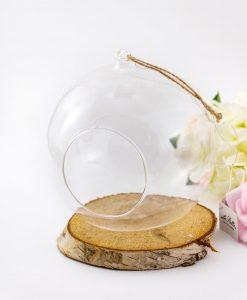 bolla vetro trasparente con apertura sul davanti piccola