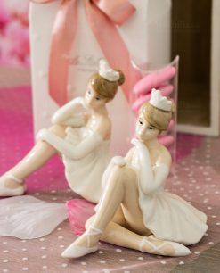 bomboniera bambolina grande porcellana ballerina con tutù